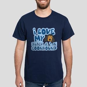 I Love my BT Coonhound Dark T-Shirt