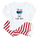 Lab Rat molecularshirts.com Baby Pajamas