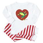 ASL Frog in Heart Baby Pajamas
