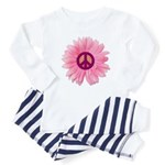 Pink Peace Daisy Infant Bodysuit