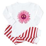 Pink Peace Daisy Baby Pajamas