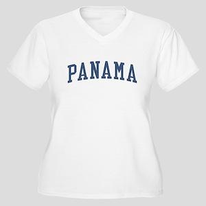 Panama Blue Women's Plus Size V-Neck T-Shirt