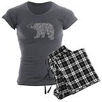 Celtic Polar Bear Women's Charcoal Pajamas