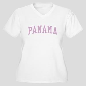Panama Pink Women's Plus Size V-Neck T-Shirt
