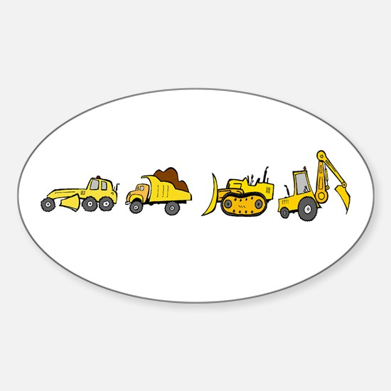 Trucks! Oval Decal