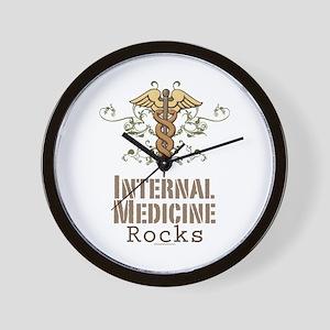 Internal Medicine Rocks Wall Clock