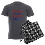 Love Rowing - Hate Ergs Men's Charcoal Pajamas