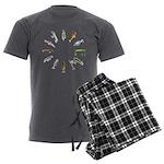fishclock Men's Charcoal Pajamas