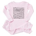 Music notes Baby Pajamas