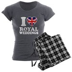 I Love Royal Weddings Women's Charcoal Pajamas