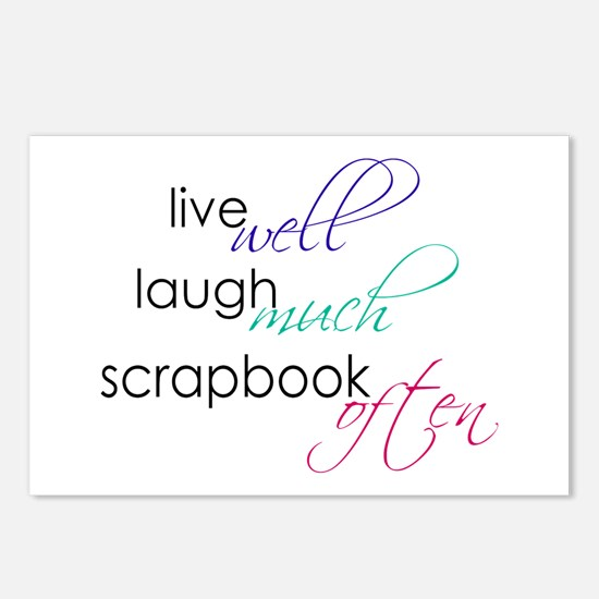 Live Laugh Scrap - Postcards (8 pk)