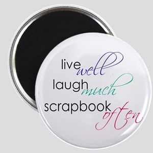 "Live Laugh Scrap - 2.25"" Magnet (10 pk)"
