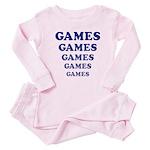 Amusement Park 'Games' Gamer Baby Pajamas