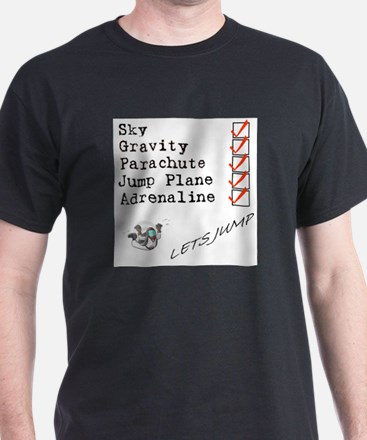 skydive check list T-Shirt