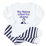 My mama voted for Obama Baby Pajamas