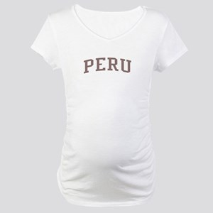 Peru Red Maternity T-Shirt