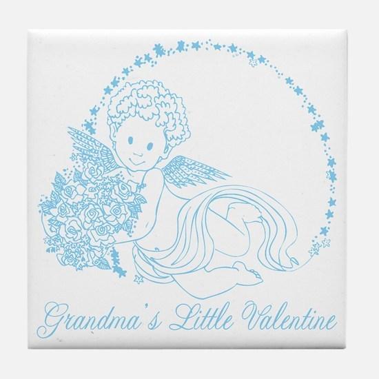 Grandma's Little Boy Valentine Tile Coaster
