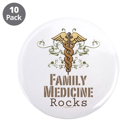"Family Medicine Rocks 3.5"" Button (10 pack)"