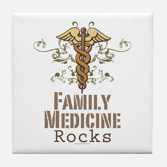 Family Medicine Rocks Tile Coaster