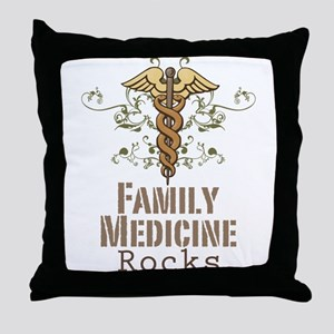 Family Medicine Rocks Throw Pillow