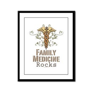 Family Medicine Rocks Framed Panel Print