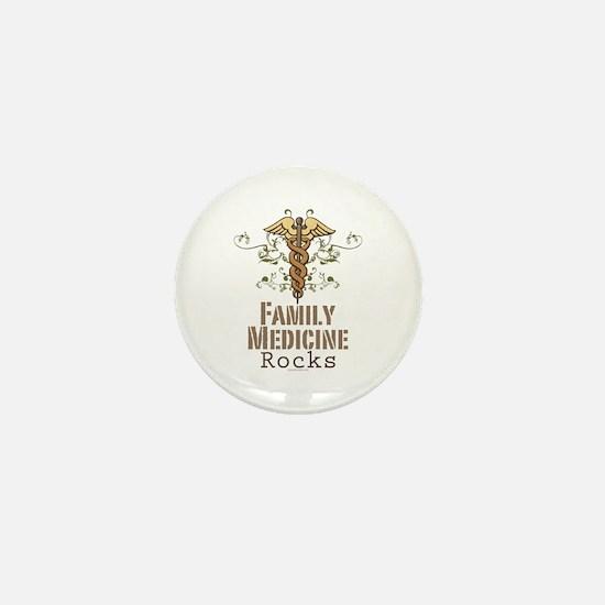 Family Medicine Rocks Mini Button