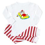 Sunbathing Santa Baby Pajamas
