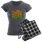 Celtic Leaf Tesselation Women's Charcoal Pajamas