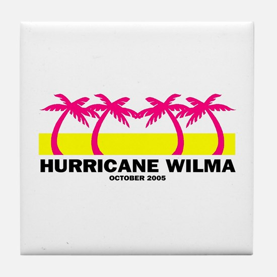 Neon Hurricane Wilma Tile Coaster