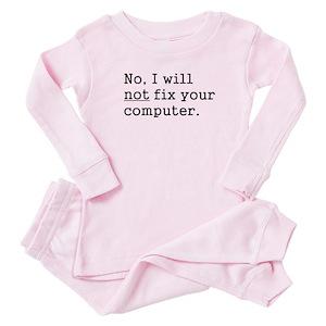 64bf04f0ad Techie Baby Pajamas - CafePress