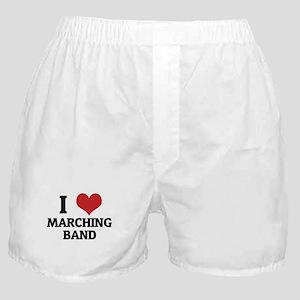 I Love Marching Band Boxer Shorts