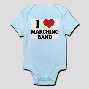 I Love Marching Band Infant Creeper