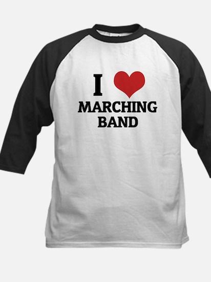I Love Marching Band Kids Baseball Jersey
