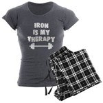 Iron is my therapy Women's Charcoal Pajamas