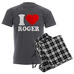 I (Heart) Roger Men's Charcoal Pajamas