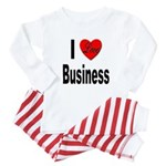 I Love Business Baby Pajamas