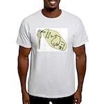 Hourly Rate Motel Key Ash Grey T-Shirt