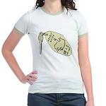 Hourly Rate Motel Key Jr. Ringer T-Shirt