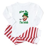 Kiss Me I'm Irish Baby Pajamas