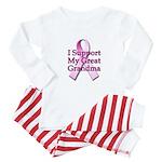 I Support My Great Grandma Baby Pajamas