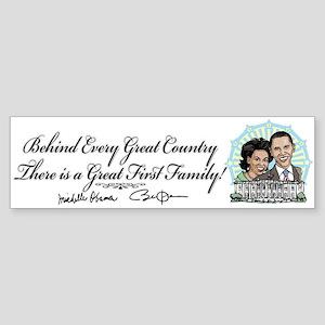Obama First Family Bumper Sticker