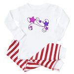 Glitter Stars Baby Pajamas