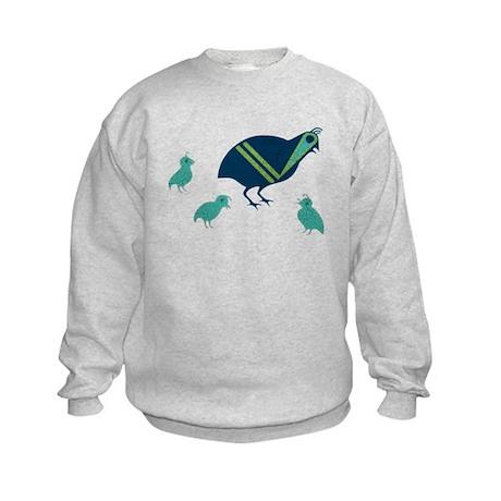 Quail Family Kids Sweatshirt