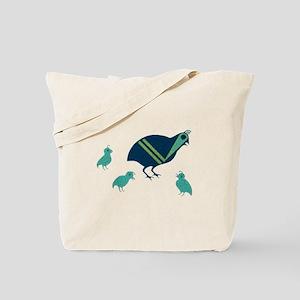 Quail Family Tote Bag