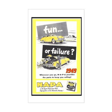 """""""1949 NAPA Ad"""" Rectangle Sticker"""