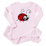 Cute Ladybug Baby Pajamas