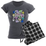 Crazy Shepherd Lady Women's Charcoal Pajamas