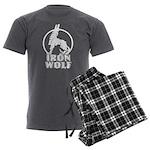 iron wolf Men's Charcoal Pajamas