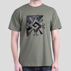 Mayan Design-metal Dark T-Shirt