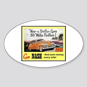 """1941 Nash Ad"" Oval Sticker"
